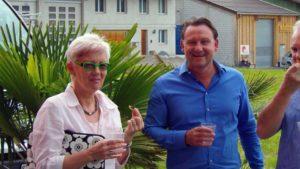 Tele 1 Starköchin Jeannette Simeon-Dubach mit Sunset BBQ-Chef Armin Bucher.