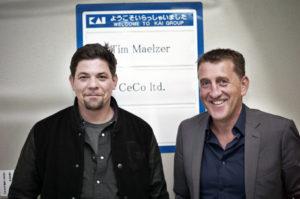 Tim Mälzer und Michael Bach, CEO der CeCo ltd.
