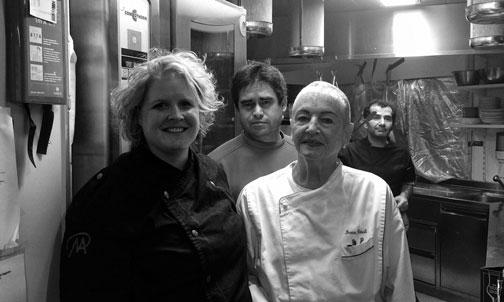 Nicole Allemann an der Seite von Irma Dütsch, der Grand Dame der Schweizer Haute Cuisine.