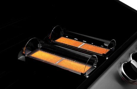 Jeder RQT®-Brenner wird durch einen Quarz-Dom abgedeckt, der die Hitze perfekt verteilt und die Infrarot-Strahlung direkt auf das Grillgut leitet.