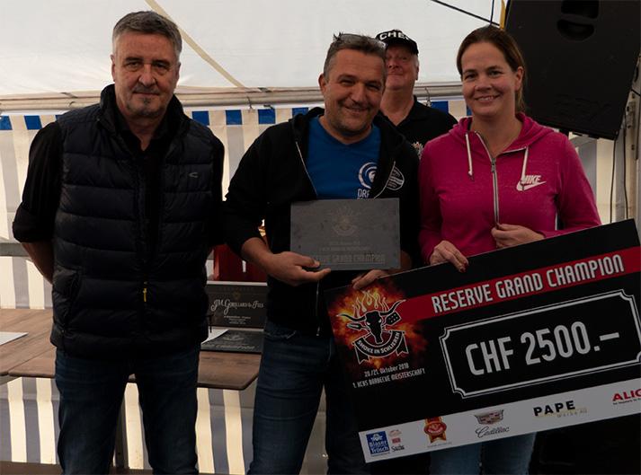 Den Titel des Reserve Champion sicherte sich in Schlieren Dragon BBQ (D).