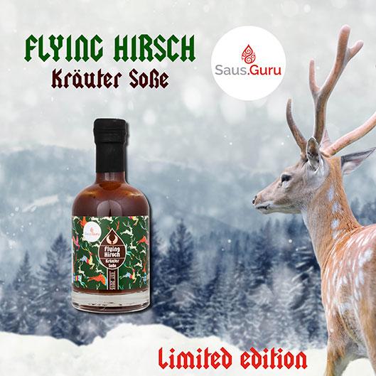 Ab sofort auch in der Schweiz zu finden: die Flying Hirsch Kräutersauce, nur während den Wintermonaten in einer limitierten Auflage erhältlich.